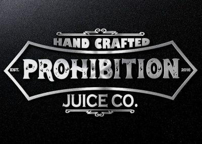 prohibition light font logo